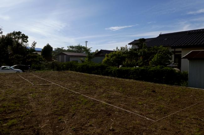 地縄張りが施された敷地