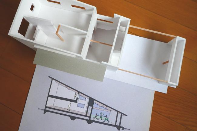 模型とパースの写真