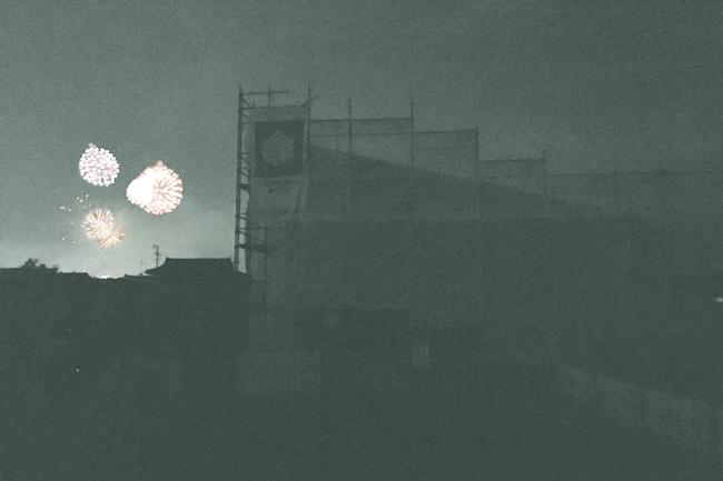 現場から見える打ち上げ花火